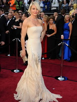 Cameron Diaz looking busty in white glamorous dress at 84th Academy Awards PS from CelebMatrix