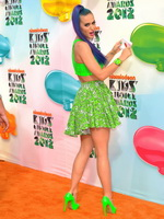 Katy Perry looking very hot in short skirt and top at Nickelodeon's awards from CelebMatrix