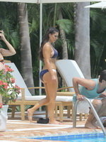Kim Kardashian showing her busty and booty body in bikini on a vacation in La Romana from CelebMatrix