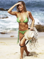 LeAnn Rimes showing her nice tits and hot ass wearing a wasabi green bikini on vacation in Cabo San Lucas from CelebMatrix