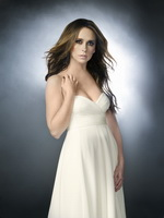 Jennifer Love Hewitt showing big boobs braless in a strapless dress at Ghost Whisperer Promotional Season 5 from CelebMatrix