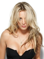 Beautiful Kaley Cuoco showing off her amazing curves wearing some lingerie and skimpy outfit in new Maxim magazine issue from CelebMatrix