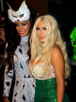 Kim Kardashian like curvy mermaid at 2nd annual Midori Green Halloween party from CelebMatrix