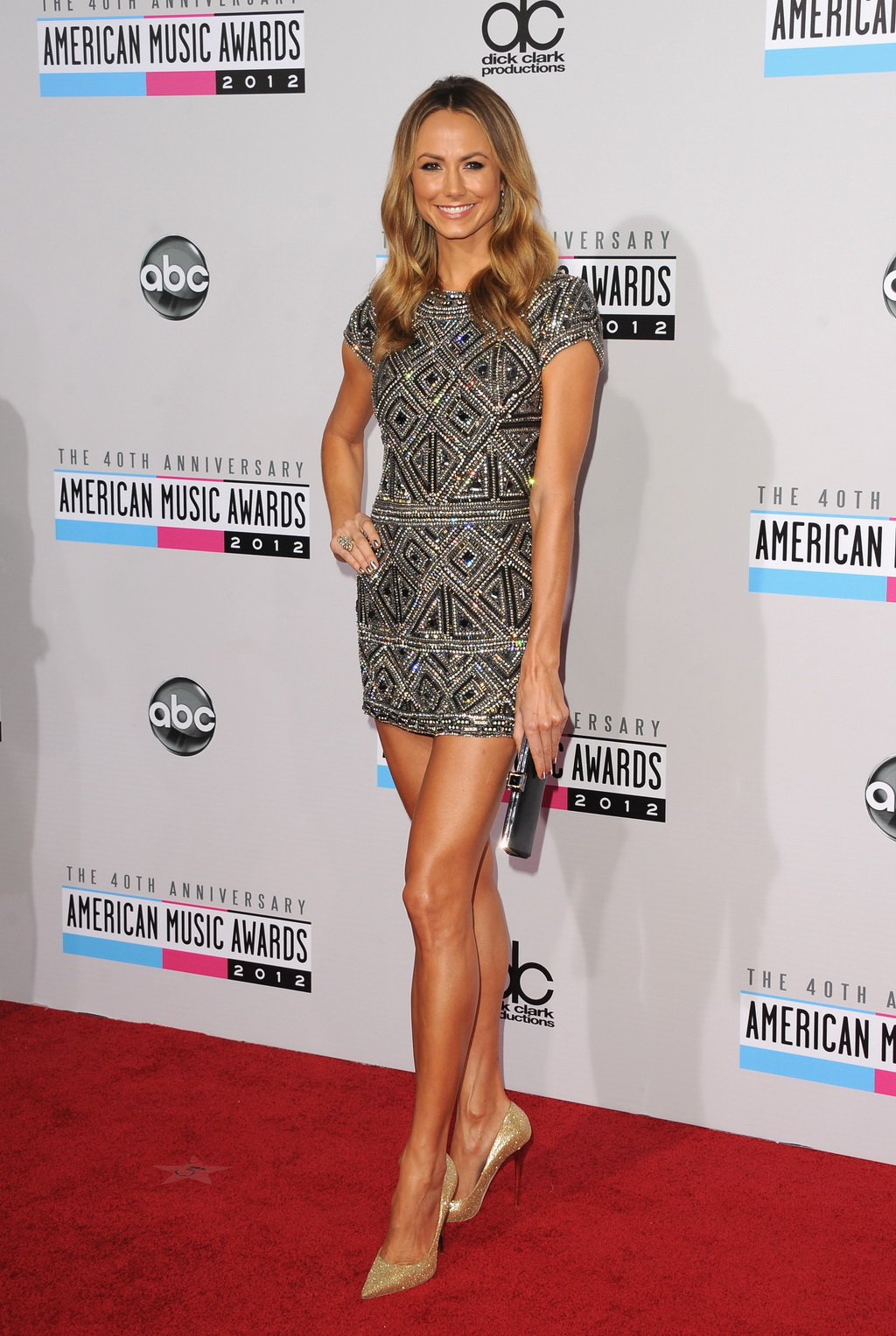 Stacy Keibler Looking Hot In Sey Mini Dress At American Music