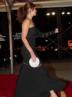 Gemma Arterton wearing black see-through to undies dress at International film festival in Marrakech from CelebMatrix