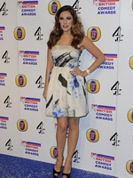 Kelly Brook stunning in a hot floral mini dress at British comedy awards  in London from CelebMatrix