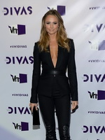 Stacy Keibler wearing no bra uder wide open jacket at VH1 Divas 2012 in LA from CelebMatrix