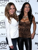 Arianny Celeste and Brittney Palmer busting out at 2012 The Ultimate Fighter finale in Las Vegas from CelebMatrix