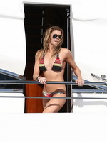 LeAnn Rimes showing side boob in few bikini sets on a yacht in Cabo San Lucas from CelebMatrix