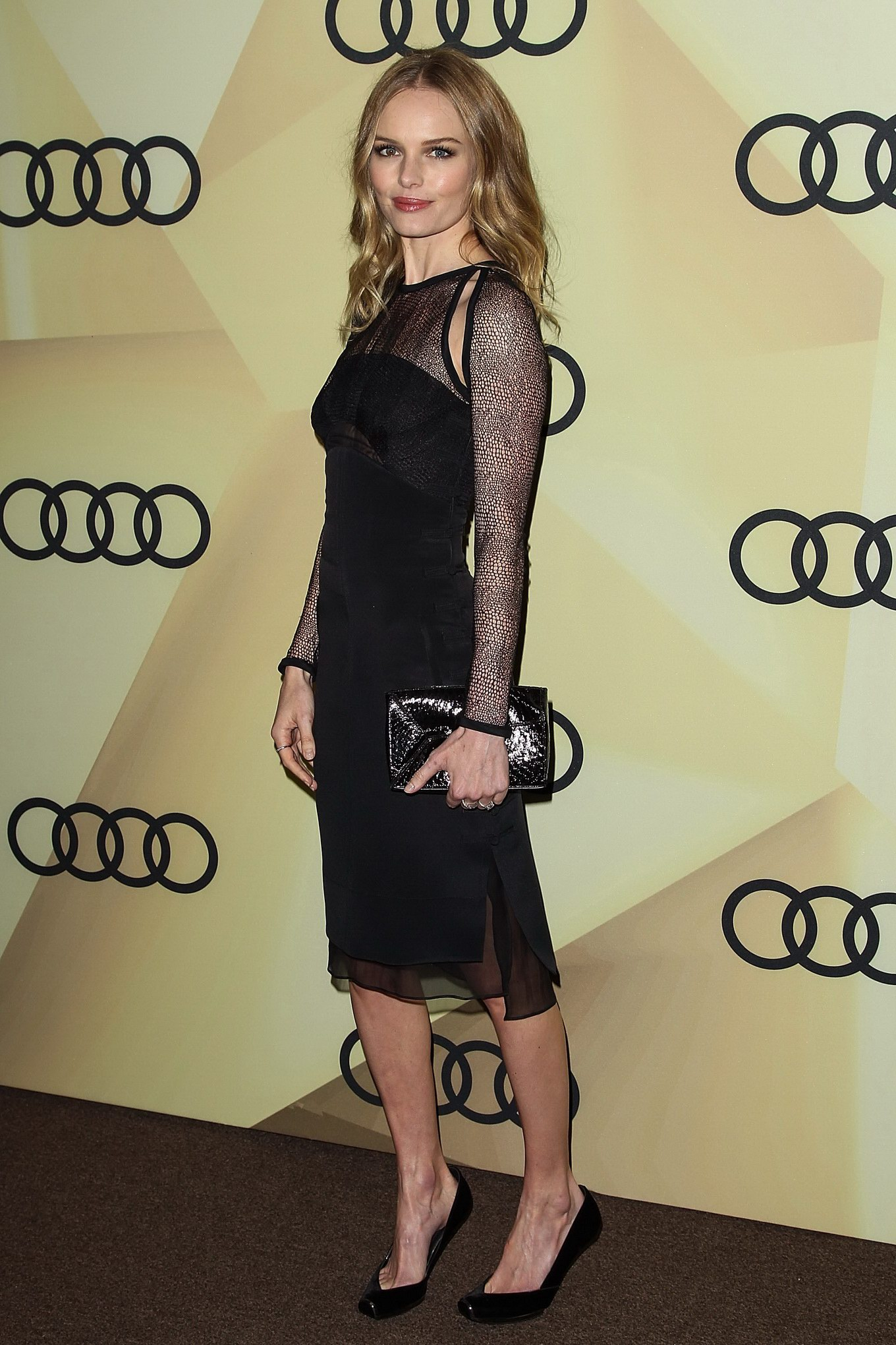 Kate Bosworth looks hot wearing black partially see-through dress at ... Kate Bosworth