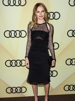 Kate Bosworth looks hot wearing black partially see-through dress at Audi Golden Globe 2013 kick off party in LA from CelebMatrix