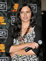 Adriana Lima busty  leggy wearing skimpy outfit at the Dosso Dossi fashion show in Turkey from CelebMatrix