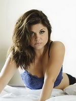 Tiffani Amber Thiessen showing off her hot body in tiny blue lingerie for Esquire magazine from CelebMatrix