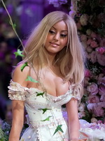 Zahia Dehar showing huge cleavage in a see-thru to panties mini dress at her own fashion show in Paris from CelebMatrix