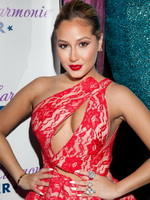 Adrienne Bailon flashing her big assets at HPNOTIQ Liqueur's Valentine's Day Cocktail Recipe Launch in NYC from CelebMatrix