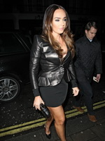 Tamara Ecclestone busty and leggy leaving C London restaurant in Mayfair from CelebMatrix