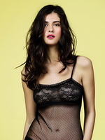 Katarina Ivanovska wearing transparent lingerie at the Women's Secret spring collection photoshoot from Mr Skin