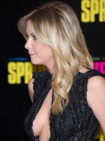 Ashley Benson braless showing huge cleavage in a hot black dress at Spring Breakers premiere in Paris from Mr Skin
