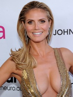 Heidi Klum braless showing unseen cleavage at Elton John AIDS Oscar Party in West Hollywood from Mr Skin