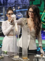 Selena Gomez and Vanessa Hudgens in sexy outfits having fun at El Hormiguero show in Madrid from CelebMatrix