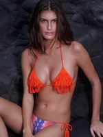 Caroline Francischini showing off her sexy bikini body at the Despi swimwear photoshoot from CelebMatrix