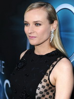 Diane Kruger braless wearing black partially see-thru mini dress at The Host Hollywood Premiere in LA from CelebMatrix