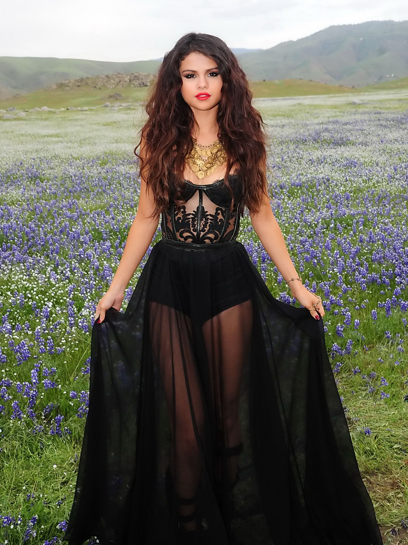 Selena Gomez see-through to underwear while filming new music video ...