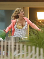 Kate Upton flaunting her huge assets on the set of The Other Woman in Westhampton from CelebMatrix