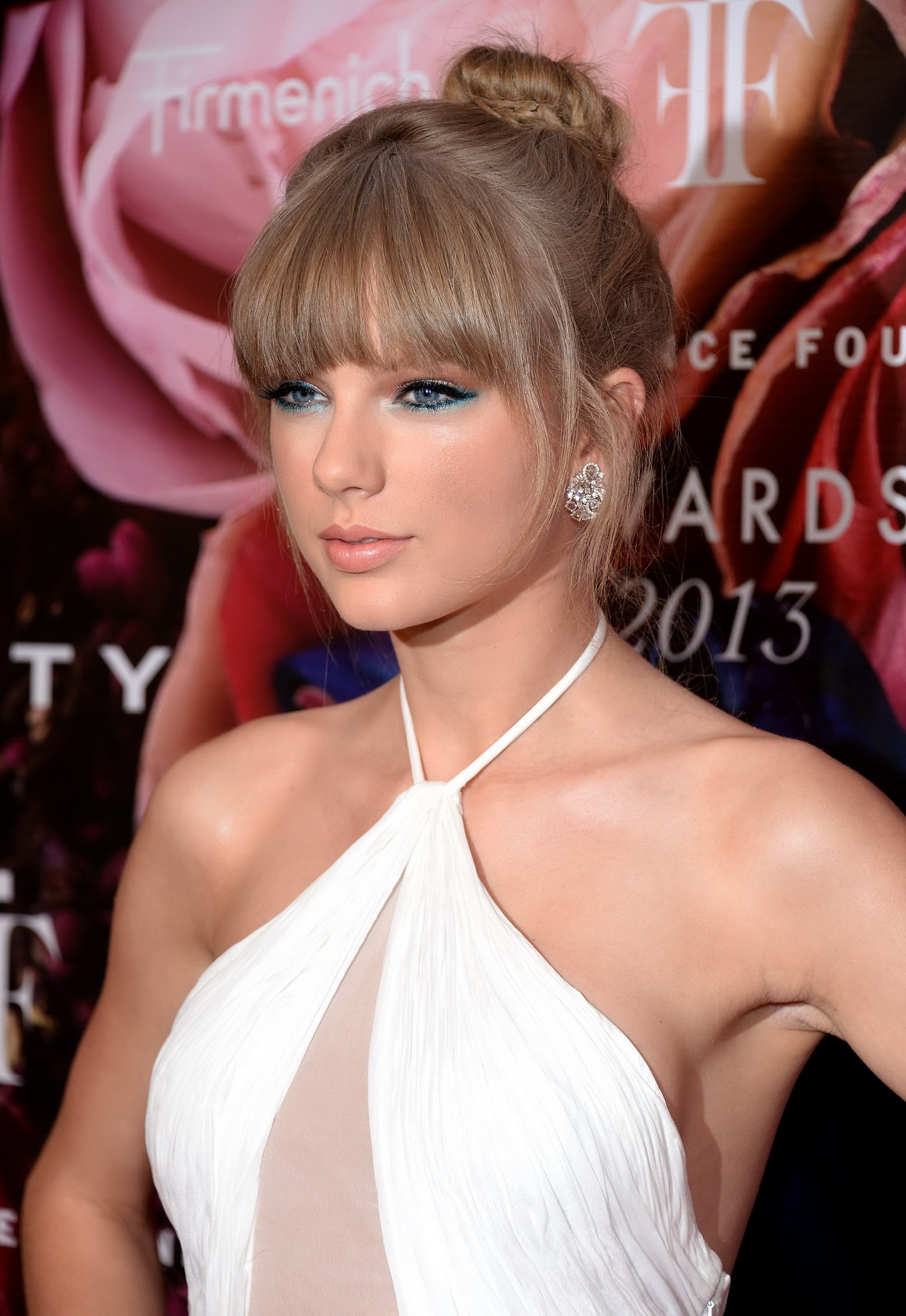 Taylor Swift Braless Wearing White Bareback Partially See