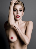 Lady Gaga showing off her naked body at the photoshoot for V Magazine Fall 2013 from CelebMatrix