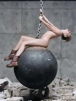 Miley Cyrus shows off her fully naked body while filming Wrecking Ball music video by Terry Richardson from CelebMatrix