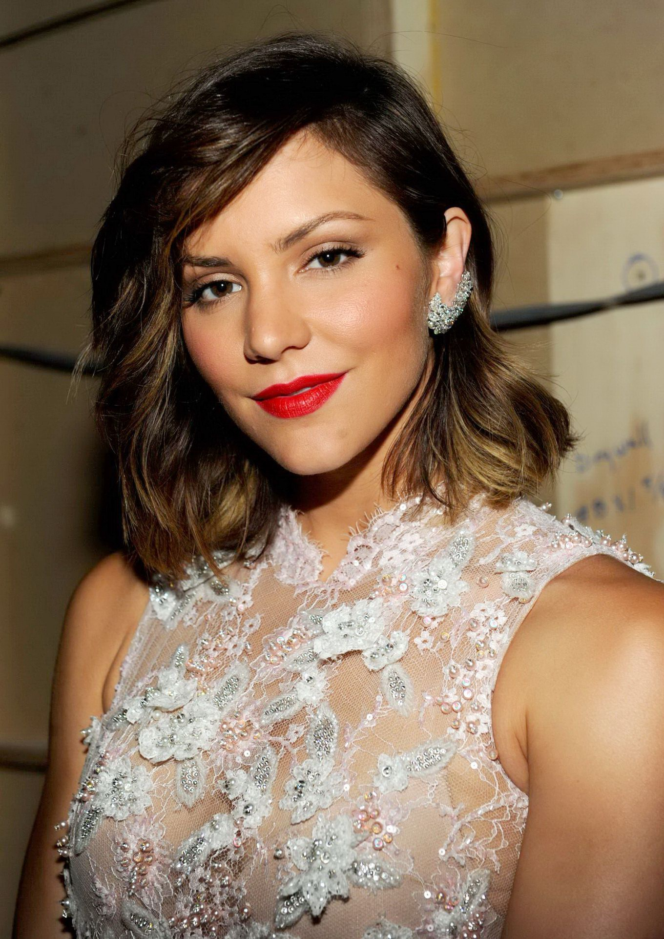 Katharine Mcphee See Through To Bra At Primetime Creative Arts Emmy