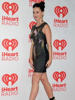 Katy Perry wearing leather belly top  mini skirt at 2013 iHeartRadio Music Festival in Las Vegas from Celebs Dungeon