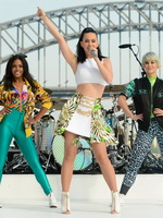 Katy Perry performing on Sunrise at the Sydney Opera House from CelebMatrix