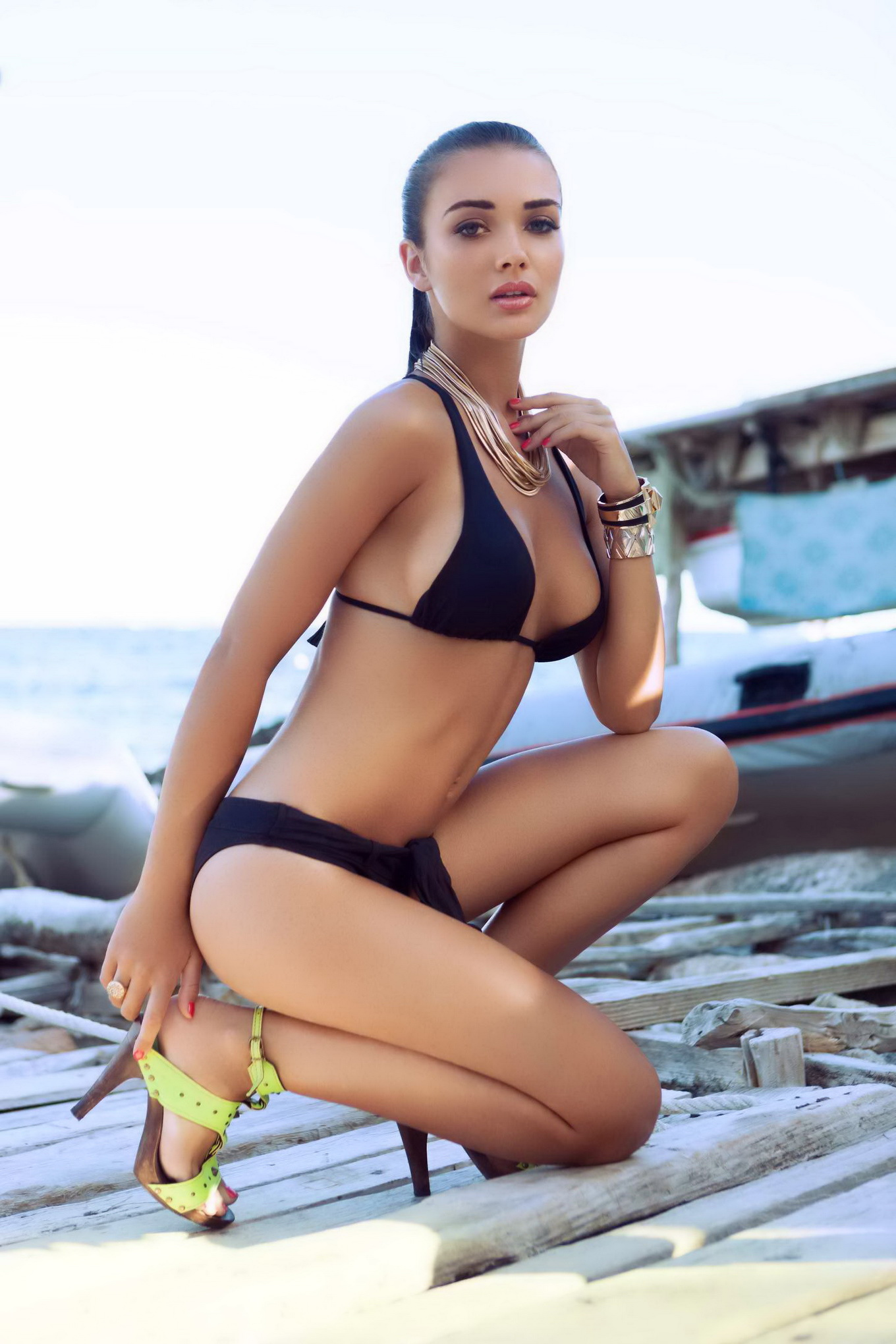 amy jackson bikini and swimwear photoshoot by james rudland