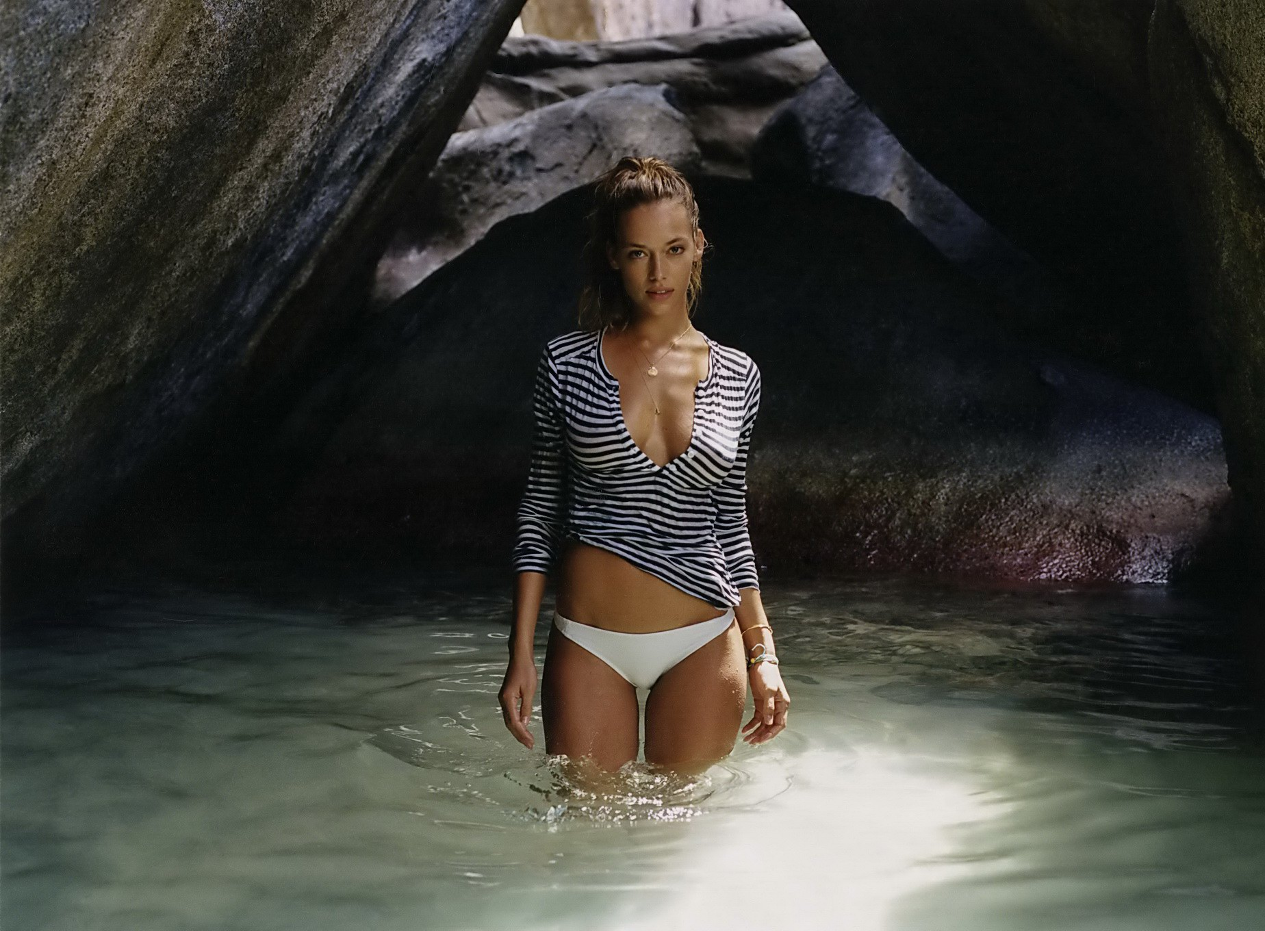 hannah ferguson showing off her hot bikini body for galore magazine