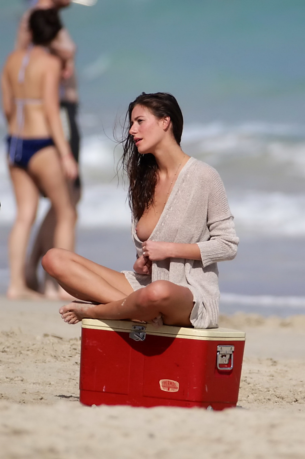 alejandra guilmant topless amp wet see through top photoshoot at miami
